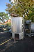 Sani Tank approximately 600 gallon capacity enclosed top , dish bottom jacketed processorwith