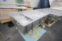 """Portable S/S Cheese DrainTable, 3"""" Clamp Type Bottom Connection, Internal Dims.: Aprox. 70"""" L x"""