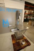 """Butcher Boy S/S Vertical Meat Saw, M/N B16-F, S/N 6-22053, 203 Volts, 3 Phase, with Aprox. 36"""" L x"""