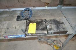 """Lot of 3 Span Model GCS-30 S/S Load Cell Platforms 9"""" X 9"""" Surface; No Displays. Required Loading"""