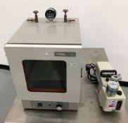 VWR Vacuum Oven with Pump, Model: 1400E, Serial: 1002798, 120 Volts, 50/60 Hz, 5.5 Amps. Comes