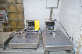 2- AND Brand S/S Digital Platform Scales; Model HV200KVWP 150/300/500LB Rating. Required Loading Fee