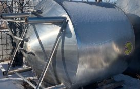 """4,500L Cone Bottom Processor, Insulated with Jacketed Cone and Side Wall, 72"""" Diameater, 64"""""""