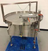 DL Tech Accumulation Table. Model: DLTTS-48C,Table measures 48 Inch Diameter. 120 Volts, 60 PSI,