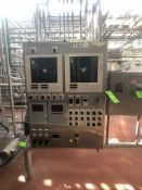 HTST S/S CONTROL CABINET, INCLUDES MICROLOGIX 1000 LEGAL PLC, (2) ABB CHART RECORDERS AND ADDITIONAL