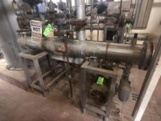2016 SKID-MOUNTED S/S ENERQUIP HEAT EXCHANGER, S/N 20252, WITH (2) FRISTAM CENTRIFUGAL PUMPS AND