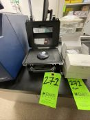 FOSS CHECK CELL (IN BOX), S/N 26363, INCLUDES SMALL SAMPLE CUPS, HALOGEN LAMP FOR MONOCHROMATOR