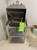 PRECISION VACUUM OVEN, MODEL 19, WITH MARATHON ELECTRIC PUMP, INCLUDES S/S RACK