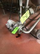 ALFA LAVAL CIP RETURN CENTRIFUGAL PUMP WITH CHECK VALVE, 3 HP 3450 RPM 208-230/460 RPM