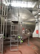 (1) WALKER 7,000 GALLON HORIZONTAL S/S GLYCOL JACKETED TANK, MODEL HHT, S/N SPG-53754-1, WITH