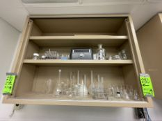 CONTENST OF (2) SHELVES, ASSORTED GLASS AND PLASTIC LABWARE