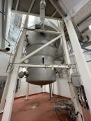S/S BAGHOUSE CHAMBER WITH ASSOCIATED DUCT WORK, FAN, VALVES & CONTROLS (NOTE: CHAMBER DAMAGED FROM