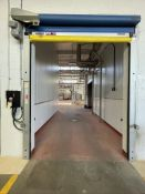 RYTEC CORP HIGH PERFORMANCE ROLLUP DOORS WITH RYTEC CONTROL CABINET, MODEL TST FU3P-B, APPROX. DIMS: