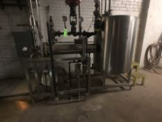 S/S 200 GALLON SINGLE TANK SKID-MOUNTED CIP SYSTEM, TANK BUILT BY TSI, MODEL 200 GAL., S/N 6618-