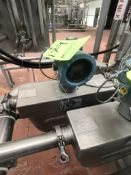 (1) MICRO-MOTION INLINE FLOW METER MODEL H200S352NCAAEZZZZ, S/N 14496594, WITH DIGITAL READOUT