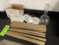 ASSORTED LABRATORY GLASSWARE AND EQUIPMENT
