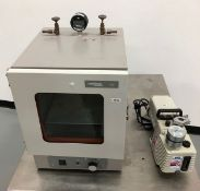 VWR Vacuum Oven with Pump, Model: 1400E, Serial: 1002798, 120 Volts, 50/60 Hz, 5.5 Amps. Comes