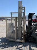 """SS Barrel Lift Dumper, ft and dump. 40"""" x 60"""" x 9 'T Can operate with air or hydraulic not included"""