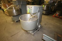 """Dough Mixer, with S/S Bowl & S/S Doug Hook, Bowl Dims.: Aprox. 29"""" Dia., Mounted on Frame (LOCATED"""