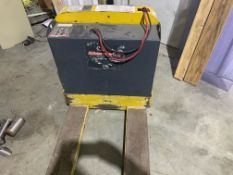 Yale 4,000 lb. Electric Pallet Jack, Newer Gel Batteries, Built-In Charger for 120 V (Located