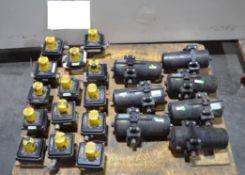Lot of Jamesbury Actuators and Accutrak Dual Display Monitors (Located Lebanon, PA) (Load Fee $25.