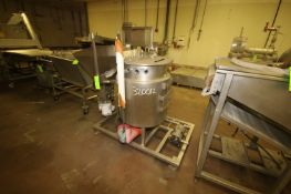 M.P. Equipment Co. S/S Batter Mixer, S/N 0800120311A, with S/S Jacketed Vessel, MAWP 180 PSI @ 300