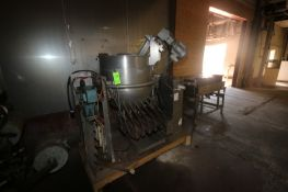 Groen 100 Gal. S/S Kettle, M/N DH/INA/2-100, S/N 10675-2, MAX. WP. 50 PSI @ 300 F, with Side S/S
