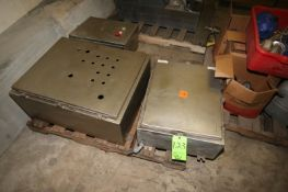 (3) S/S Control Panels, Assorted Sizes (LOCATED IN DOUGLAS, GA) (Rigging, Handling, & Site