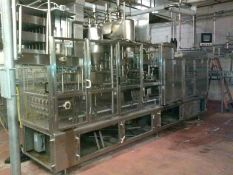Osgood Cultured Products Filler, Model 6400, S/N 635 Single Index 6-Lane Filling System,
