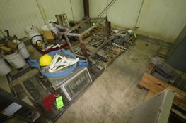 Contents of (8) Pallets, Includes Barrel Dullie, Assortment of Tires, S/S Mixing Bowls, (2) S/S