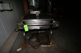 """Porter S/S Tilt Skillet, Compartment Dims.: Aprox. 31"""" L x 23"""" W x 9"""" Deep, Mounted on S/S Legs ("""