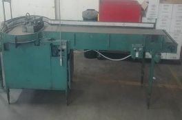 """Autodec, Inc. Dumping Table, Model 23, Aprox. Dimensions 24"""" x 102"""" with 42"""" Rotaring Table, 220 V ,"""