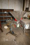 "Hinds-Bock Dual Head S/S Depositor, M/N SP 64, with Aprox. 31"" Dia. Funnel, with Spare Hinds-Bock"
