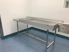"Feeding Table. Feed Table measuring 72""L X 30""W X 35""Tall."