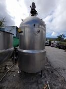 Lee 400 Gal. Vacuum Jacketed Kettle, Model 400D7S, S/N C1825A1, National Board #6443,
