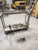 2013 Tucs Single Piston Filler, M/N TC-12X43-10, S/N E-1755, Mounted on S/S Portable Frame (