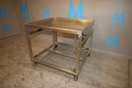 "S/S Rolling Catch-All, Dish Bottom Cart, (48""x48""x40"") (Rigging, Loading, Handling Fee: $50) ("