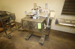 Rheon Cornucopia Encrusting Machine, M/N KN400, S/N 1021, 220 Volts, 3 Phase, Mounted on Portable