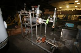"""S/S Shell & Tube Heat Exchanger, Overall Dims.: Aprox. 37"""" L x 11"""" Dia., with Centrifugal Pump,"""