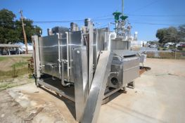 """Boc Gases S/S Nitrogen Tunnel, M/N KFIT38.10M, S/N 30.073.02, with Aprox. 37"""" W S/S Mesh Conveyor,"""