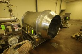 """S/S Tumbler, Aprox. 42"""" Dia. Tumbler Chamber, Mounted on S/S Portable Frame (LOCATED IN DOUGLAS, GA)"""