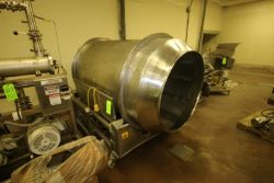 "S/S Tumbler, Aprox. 42"" Dia. Tumbler Chamber, Mounted on S/S Portable Frame (LOCATED IN DOUGLAS, GA)"