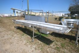 Straight Section of S/S Mesh Conveyor, Overall Length: Aprox. 17' L, Mounted on S/S Portable