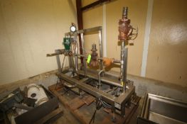 S/S Heat Valving & Piping Skid, with Bottom Mounted Centrifugal Pump, Mounted on S/S Skid (LOCATED