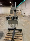 Willett Roll-Fed Lablejet Labeler, Model 2300, S/N 9535-0014, 120 V with Stand (Located New