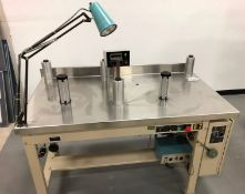 Web Techniques Label Rewinder/Inspector-M#WT-25LCI-This unit uses a Strobe Light for High speed