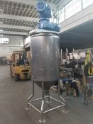DairyCraft Inc. (DCI) 150 Gal. S/S Jacketed Vertical Processor, Model 79-F-24493-2, with Twin Action