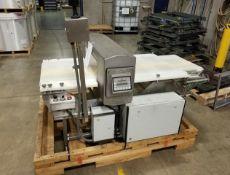 """Safeline 6"""" x 24 ft. Food Grade Metal Detector, Mounted on Conveyor (Last Used in Food Plant)"""