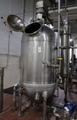 Hamilton 150 Gal. S/S Steam Jacketed Vacuum Kettle, Model ____________, S/N _____ with Scrape