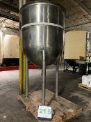 500 Gallon Stainless Steel Dome Bottom on three legs (leftover products will be removed -- Free